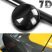 7D Premium High Gloss Carbon Fiber Vinyl Wrap Bubble Free Air Release Decal 6D S