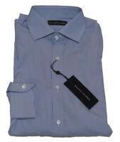 Ralph Lauren Black Label Mens Blue White Striped Slim Button Down Dress Shirt
