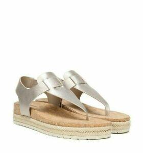 VINCE. Flint 2 Espadrille Sandal color MOONSTONE New in Box