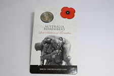 2010 20c Uncirculated Coin: Lost Soldiers of Fromelles