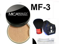 Mica Beauty Mineral Foundation MF3 toffee  - 9 gr + Free  Itay Premium Kabuki
