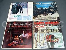 4 Christmas Vinyl Records Conniff's Happy Holidays Volume 18 & 22 Nat King Cole