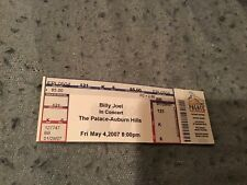 Billy Joel full ticket from The Palace of Auburn Hills— May 4,2007