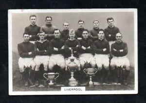 BOYS CINEMA football teams series 1920 s issue LIVERPOOL TEAM group