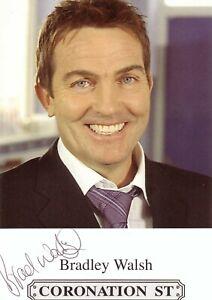 Original hand-signed Coronation Street photo, Bradley Walsh