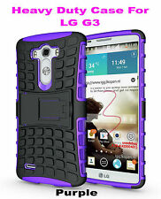 Purple Strong Handyman TPU Hard Case Cover Stand for LG G3, Heavy Duty & Tough