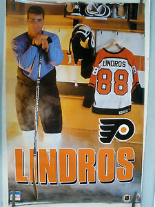 RARE ERIC LINDROS FLYERS 1992 VINTAGE ORIGINAL NHL STARLINE HOCKEY POSTER