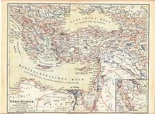 c. 1890 Turkey Ottoman Empire Greece Cyprus Crete Russia Egypt Antique Map