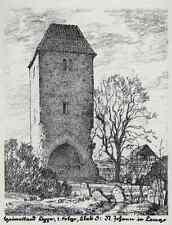 Ernst ROETTEKEN ST.JOHANN IN LEMGO Original Lithographie Lippe 1926