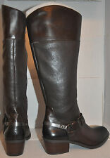 Vince Camuto Women's Brunah Brown Fudge Leather Buckle Riding Boots 7 37  M $239
