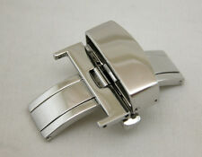 CLASSIC 20MM Deployment Buckle Double Clasp POLISHED Stainless Steel