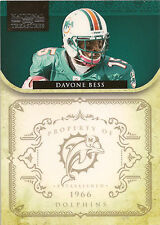 DAVONE BESS 2011 National Treasures Base Card #80 #/99 Dolphins