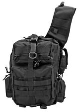 Tactical Duty Shoulder Bag Survival EDC Sling Pack Pistol Utility Satchel BLACK*