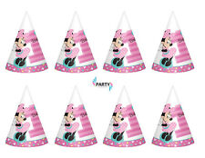 Minnie Mouse 1st Birthday Party Supplies  PAPER CONE HATS Pack Of 8
