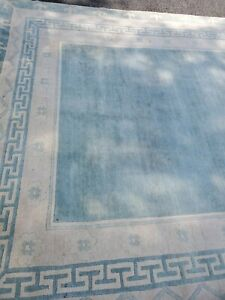 """Vintage Tibetian Area Rug Hand Knotted 8'8X 11'10"""""""