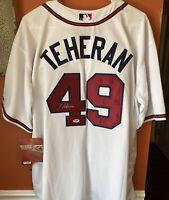Julio Teheran Autographed Signed Atlanta Braves Jersey PSA COA Stains See Pics