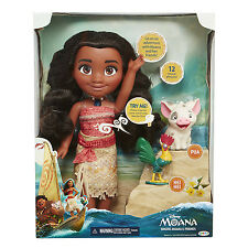 Singing Moana & Friends Action Figures Doll Light &Movie Song Kids Toy Xmas Gift
