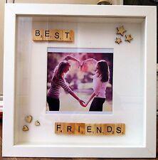 Best friends scrabble tile handmade photoframe