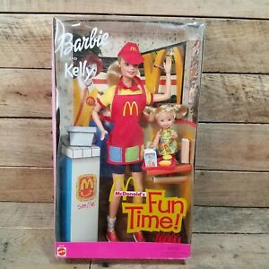Barbie & Kelly McDonalds Fun Time Dolls in Box 2001 Unopened 29395
