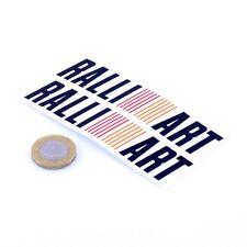 Mitsubishi Ralliart Sticker Car Vinyl Decals 100mm x2 JDM Drift Tune Lancer Evo