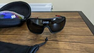 POC Cycling Sunglasses with 5 lenses for all light conditions.