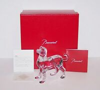 LOVELY 2018 BACCARAT FRANCE CRYSTAL ZODIAQUE CLEAR DOG #2811187 SCULPTURE IN BOX