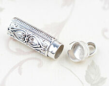 925 STERLING SILVER Cremation Jewelry CASKET Ash Pendant Urn  S100