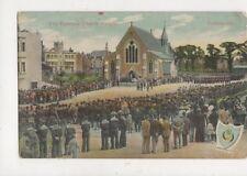 The Garrison Church Parade Portsmouth 1907 Postcard 890a