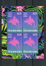 Papua New Guinea 2015 MNH Singapore Expo 4v M/S II National Bird Birds Stamps
