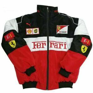 FERRARI F1 JACKET Red black coat Embroidery EXCLUSIVE suit team racing