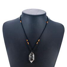1/3PCS Natural Clear Quartz Crystal Pendant Necklace Chakra Gemstone Healing US