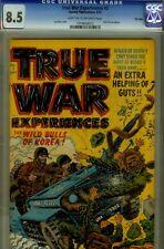 True War Experiences  #2-CGC 8.5-higrade very fine+- file copy-harvey korean war