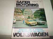 Vintage Illustrated Magazine VOLKSWAGEN SAFER MOTORING October 1978 + Adverts