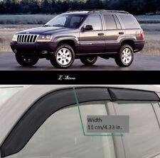 For Jeep Grand Cherokee 99-04Side Window Visors Sun Rain Guard Vent Deflectors