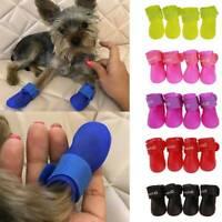 Pet Puppy Dog Waterproof Shoes Small Anti-Slip 4PCS Protective Rain Boots Socks.