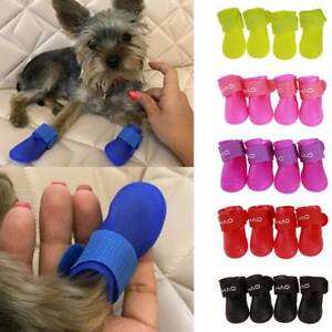 Pets Dog Puppy Shoes Boots Sets Puppy Chihuahua Booties Claw Protector