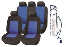 11 PCE Glastonbury Blue/Black Car Seat Covers For Ford Fiesta Focus Mondeo Kuga