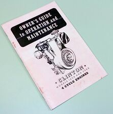 Clinton 1600 2500 4 CYCLE ENGINES OWNERS OPERATORS MANUAL BOOK MAINTENANCE