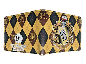 Harry Potter Wallet Purse Mens Kids Hufflepuff Hogwarts Wizardry and Witchcraft