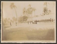 ALGERIE LAGHOUAT PHOTO MANIFESTATION MILITAIRE REVUE DE TROUPES 1905 ?
