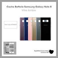 Vitre Arrière Cache Batterie pour  Samsung Galaxy Note 8 Logo IMEI + Adhesif