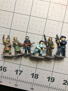 Lot 6 Vintage TSR Dungeons & Dragons Soldiers Army Pewter Miniatures Ral Partha