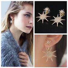 1Pc Crystal Rhinestone Dangle Gold Earrings Star Ear Stud Earring Jewelry Gifts