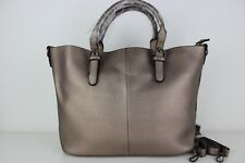 Space Grey Handbag women's ladies faux leather new design tote fashion shoulder