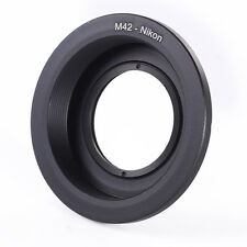 M42 Screw Lens to Nikon AI F Mount DSLR Camera Adapter Ring with Optical Glass