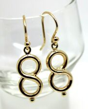 **Kaedesigns New 9CT YELLOW GOLD SWIRL DROP HOOK EARRINGS