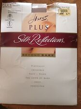 Vintage Hanes silk reflections pantyhose - color beyond beige nude size one plus