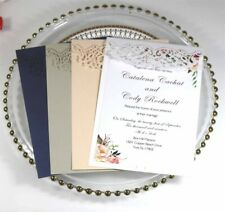 25/50PCS Hollow Laser Wedding Invitation Greeting Card Wedding Invitations Card