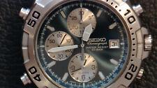 VINTAGE Seiko 7T32-7G50 SPEEDMASTER Chronograph. NUOVA data ruota montata. RARO.