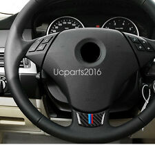 Car Steering Wheel Decal Carbon Fiber Trim 1pcs For BMW 5 series E60 2004-2010